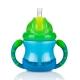 Nuby 雙耳防漏彈跳吸管水杯240ml-藍綠(12m+) product thumbnail 1