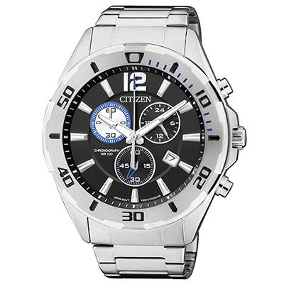 CITIZEN 經典賽車概念三眼計時腕錶(AN 7110 - 56 E)-黑/ 43 mm