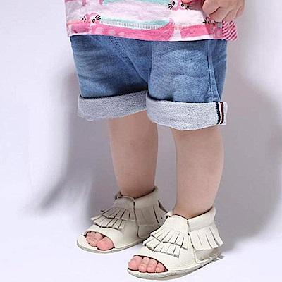 Baby unicorn 白色流蘇露趾嬰兒涼鞋