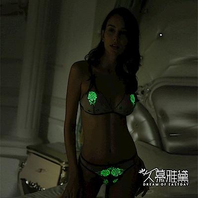 情趣內衣 夜光精靈系列誘惑比基尼套裝。夜光百合 久慕雅黛