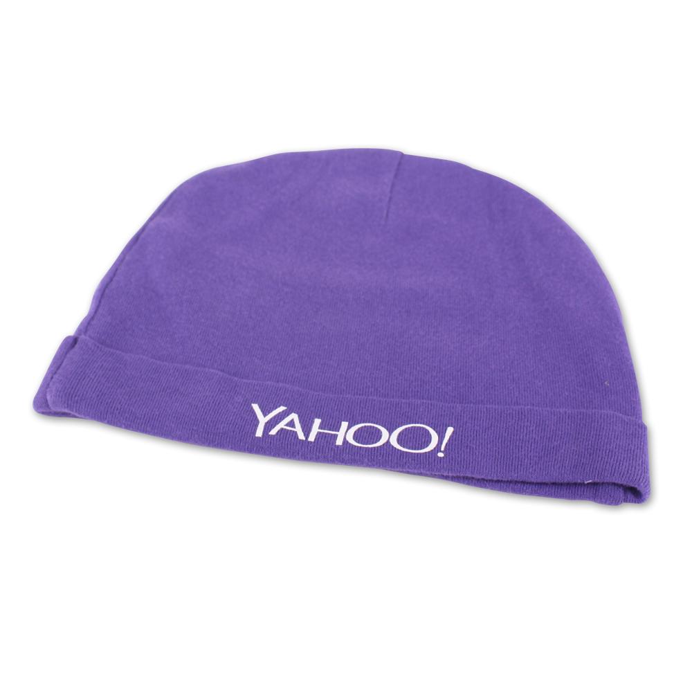 Yahoo! 紫色寶寶小棉帽