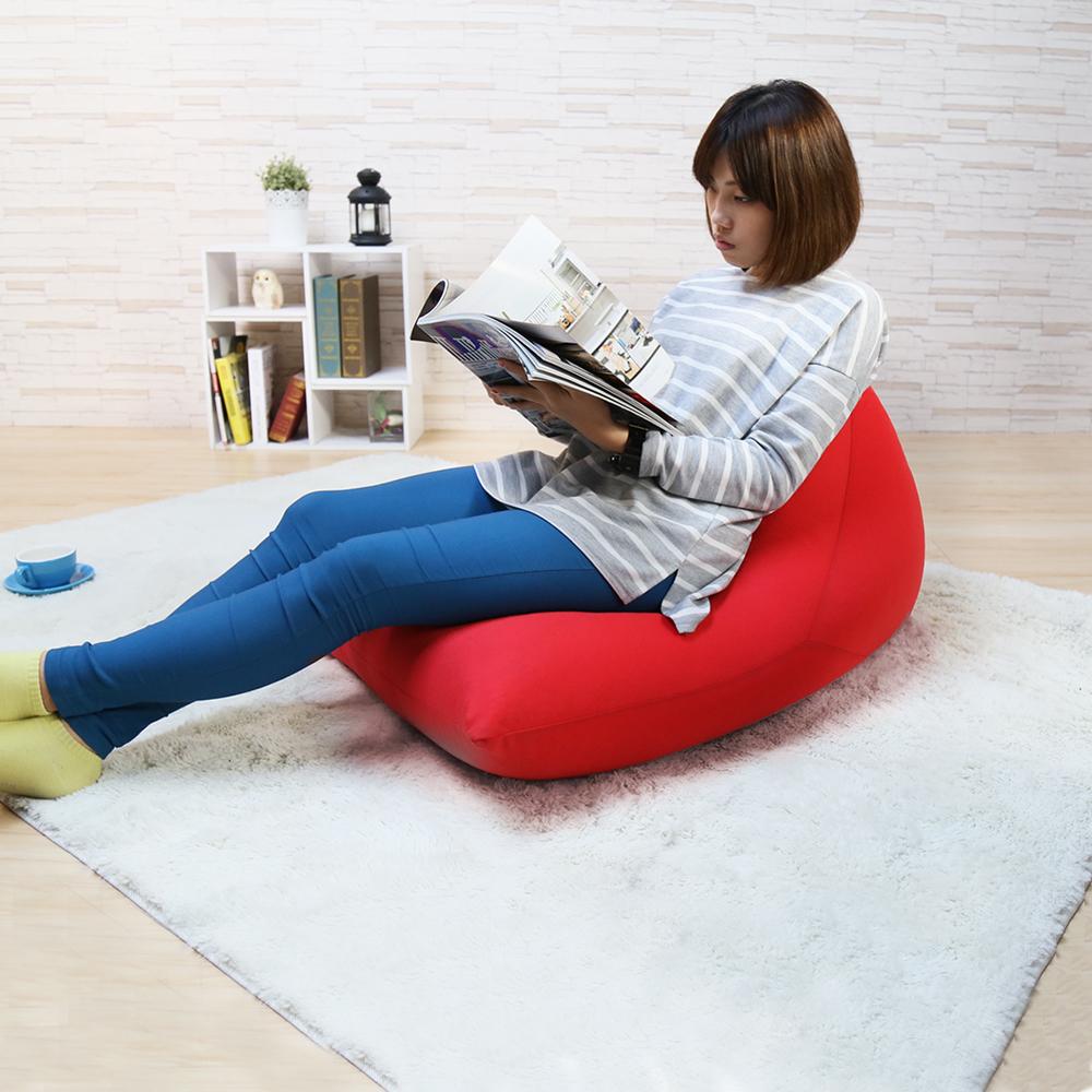 H&D 鮮豔三角錐懶骨頭/懶人沙發-紅色