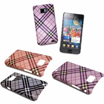 Samsung-Galaxy-S2-i9100-蘇格蘭格紋造型背蓋-螢幕保護貼