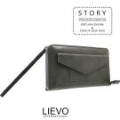 LIEVO-旅行手機皮夾 100%天然水蠟牛皮 前口袋可以放5.7 吋7plus手機