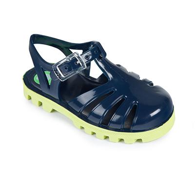 Project Jelly JuJu英國製果凍涼鞋(海軍藍X萊姆)