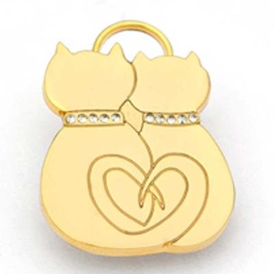 澳洲品牌Hamish McBeth - BlingBling水晶吊牌、金色相愛貓咪