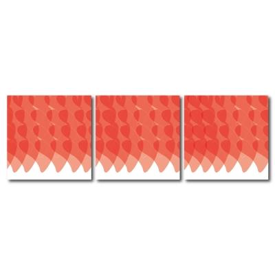 123點點貼- 三聯式無痕創意壁貼 -無盡爭輝30*30cm