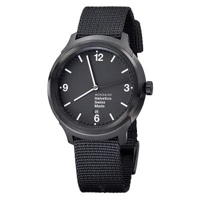 MONDAINE-瑞士國鐵設計系列腕錶-IP黑-4