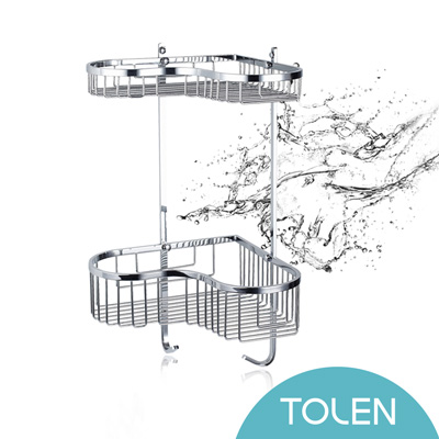 Tolen陶然居-鏡光心型雙層架