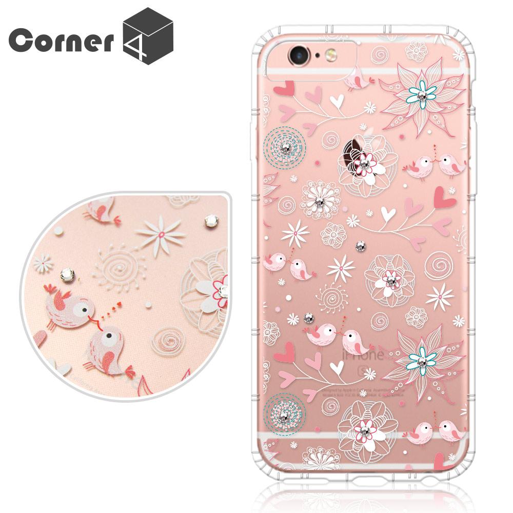 Corner4 iPhone6s / 6 PLUS 5.5吋 奧地利彩鑽防摔手機殼-知更鳥