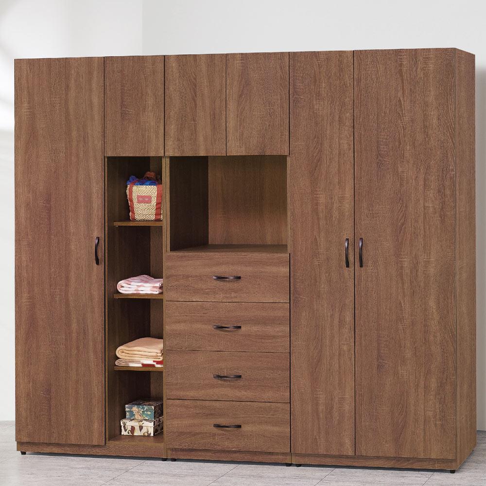 品家居 凱威7尺開門組合衣櫃(二色可選)-213.5x55x194.5cm-免組
