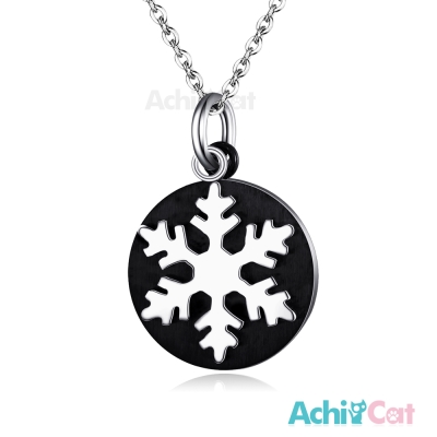 AchiCat 珠寶白鋼項鍊 純粹 雪花