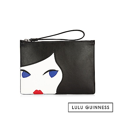 LULU GUINNESS DOLL FACE 扁式手拿包