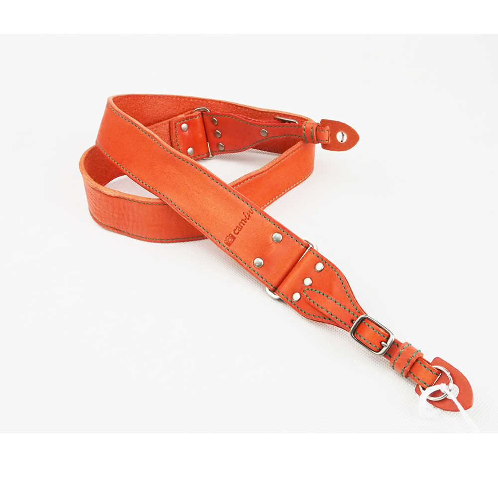 Cam in 義大利真皮水洗款相機背帶(共5色)-橙色