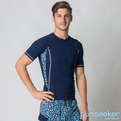 大尺碼 Sunseeker時尚男士衝浪上衣