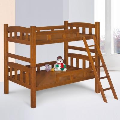 Homelike 派克3.5尺雙層床-淺胡桃色