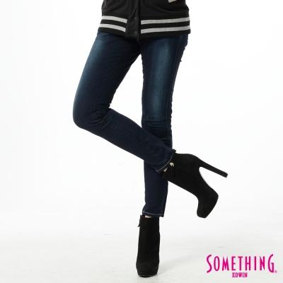 SOMETHING STORYⅢ塑腿超窄直筒牛仔褲-女款-原磨藍