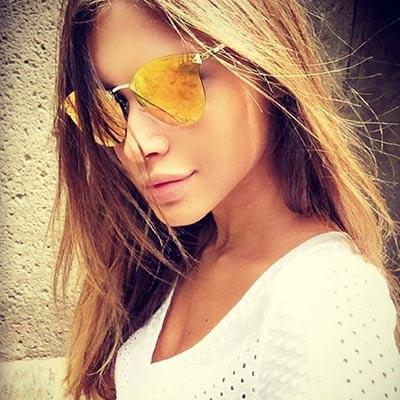 FENDI 反光鏡面 太陽眼鏡 (亮麗橘色)