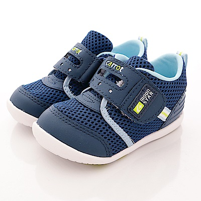 日本Carrot機能童鞋 輕量速乾學步款 BNI06 深藍 (寶寶段)T1