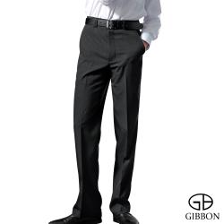 GIBBON 層次修身平口西裝褲‧黑色31-42