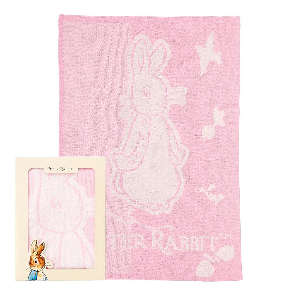 奇哥 比得兔雙層柔舒毯禮盒-粉紅