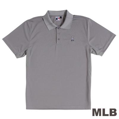 MLB-波士頓紅襪隊開釦式POLO衫-灰(男)