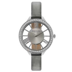 Kenneth Cole 羅馬夜夢時尚晶鑽腕錶-KC50184003-41mm