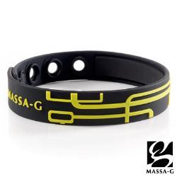 【MASSA-G】【幾何雙謎-闇黑金鑲】鍺鈦能量舒壓手環