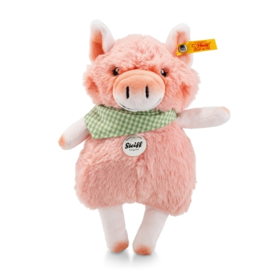 STEIFF德國金耳釦泰迪熊 - Piggilee Pink S (動物王國)