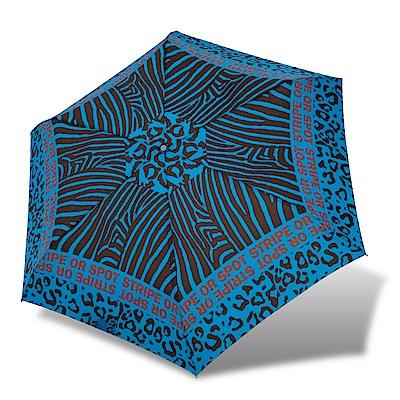 RAINSTORY斑斕豹紋抗UV輕細手開傘