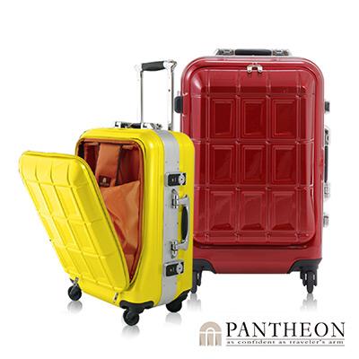 日本PANTHEON 19吋 玫瑰紅 成功人士最愛 立可拿前開登機箱/行李箱