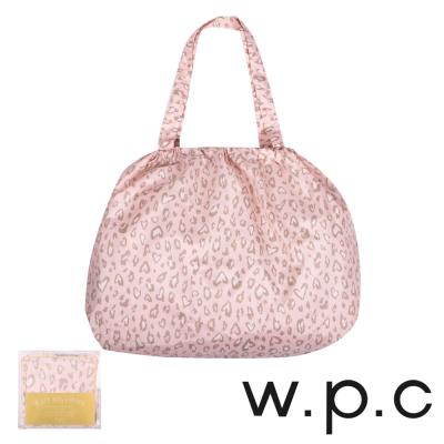 w.p.c 時尚包包雨衣/束口防雨袋 (粉紅豹紋)