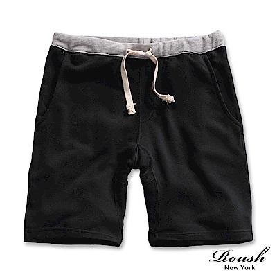 ROUSH-特殊剪裁配色設計水洗棉質短褲(4色)