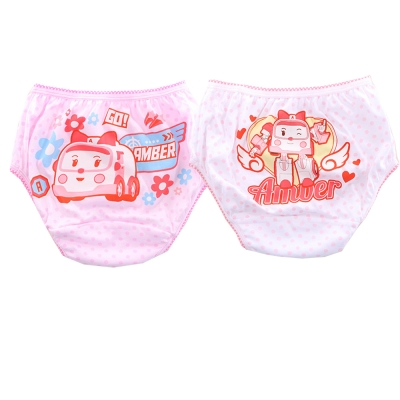 POLI女童純棉三角內褲(四件一組) k50128