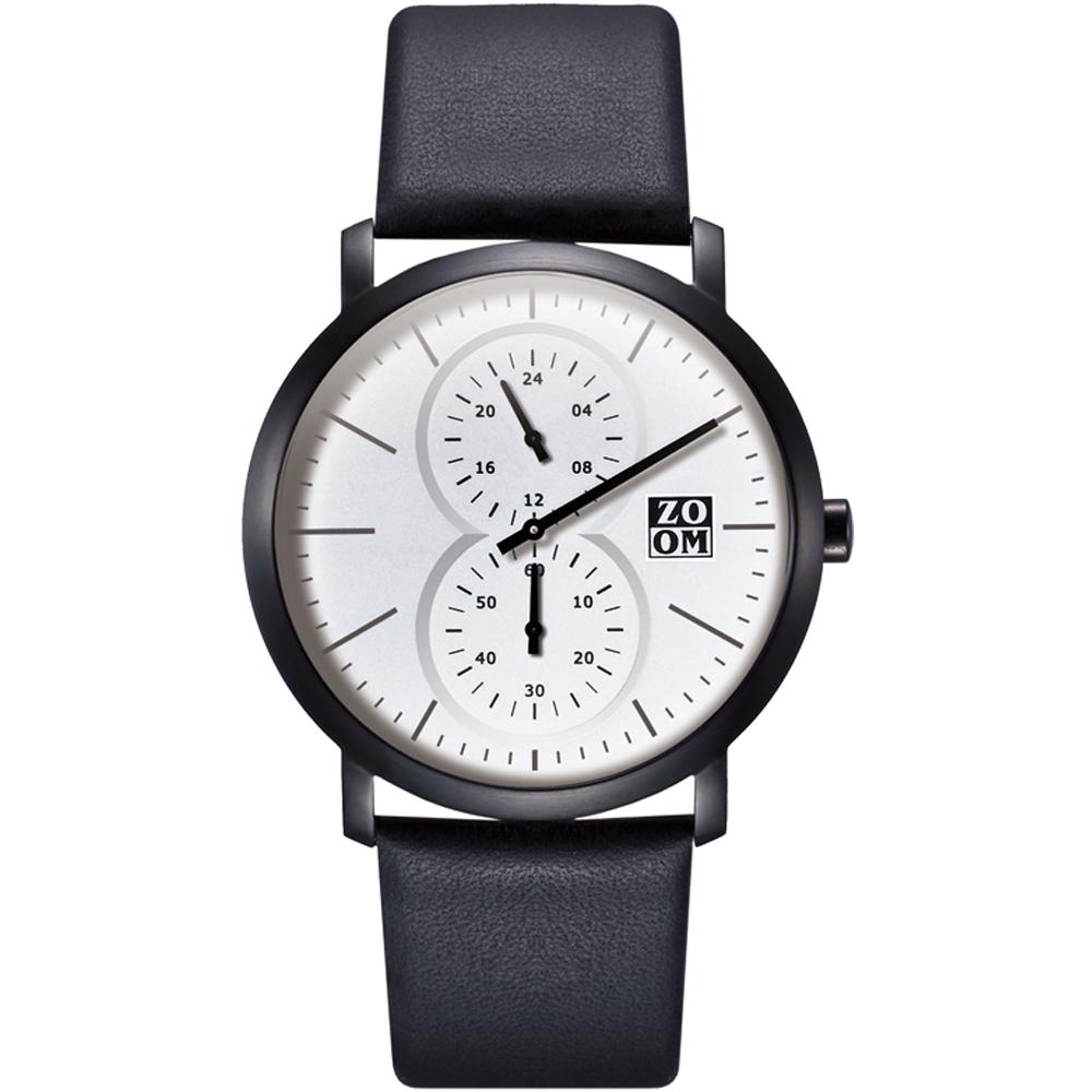 ZOOM Muse 繆思系列特殊讀時腕錶-白/43mm