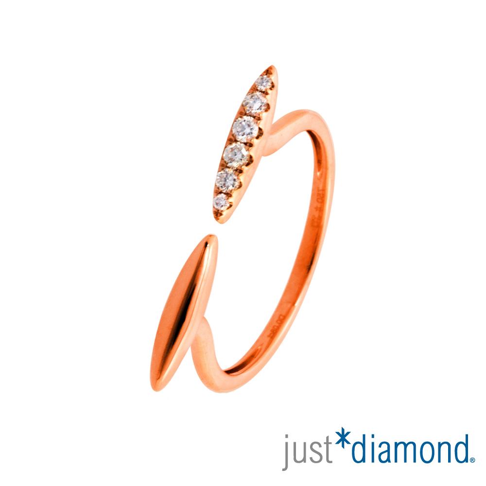 Just Diamond 18K玫瑰金鑽石戒指-眨眼