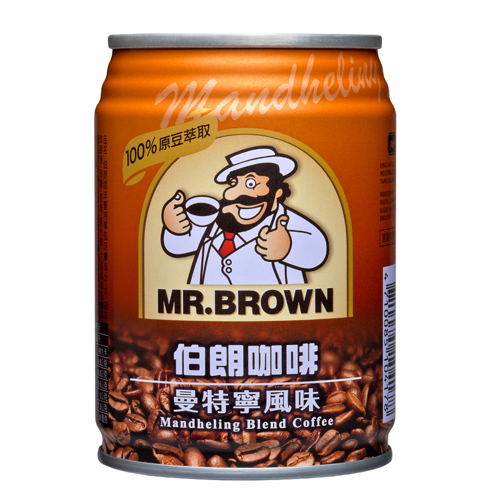 金車伯朗咖啡曼特寧風味(240mlx24罐)