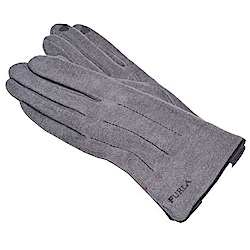 FURLA 品牌字母刺繡LOGO保暖造型可觸控手套(灰色)