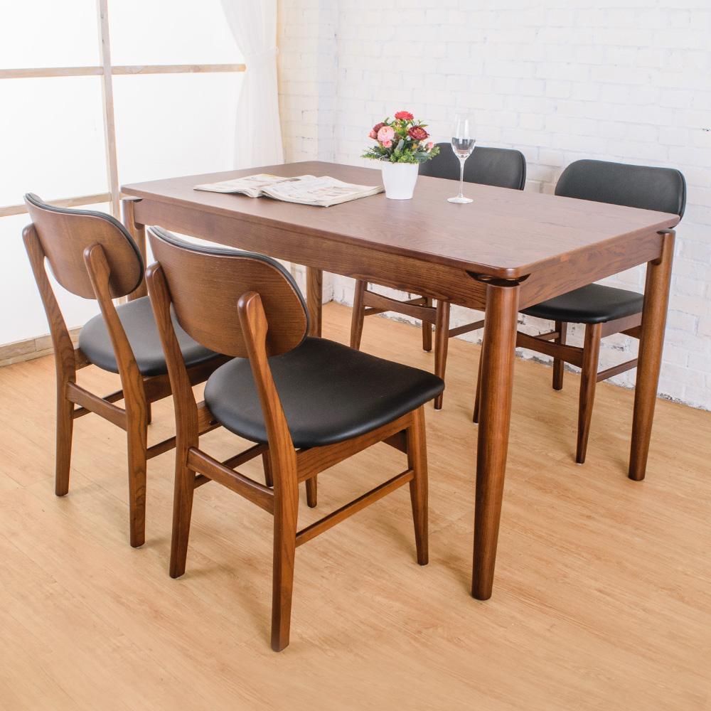Bernice-東尼實木餐桌椅組(一桌四椅)-135x80x76cm