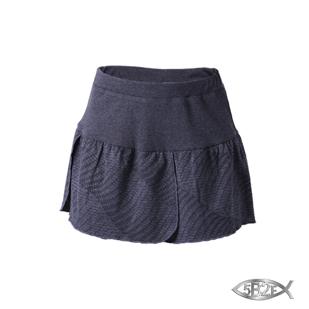 5B2F 五餅二魚 幾何紋花瓣裙襬短褲 product image 1