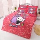 HELLO KITTY x RODY 歡樂時光系列-雙人純棉四件式床包涼被組(紅)