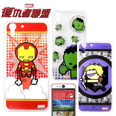復仇者聯盟 HTC Desire EYE Q版彩繪手機軟殼(英雄款)