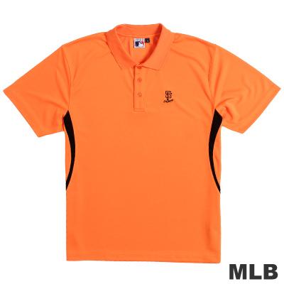 MLB-舊金山巨人隊開釦式電繡POLO衫-桔(男)