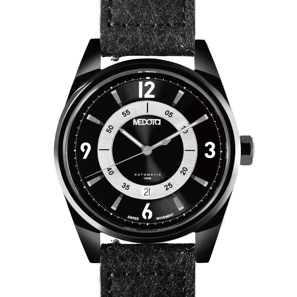 MEDOTA Grancey 伊頓系列 奢華時尚腕錶-黑/雙面盤/48mm