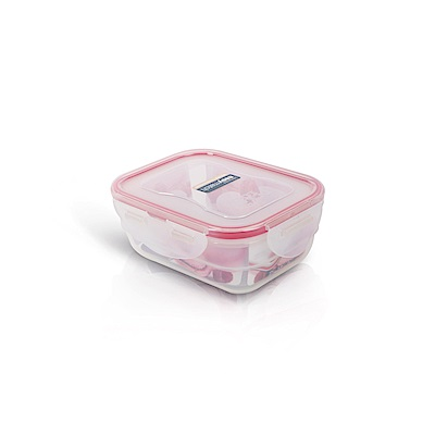 樂扣樂扣PP保鮮盒EASY MATCH 370ML/紅色(8H)