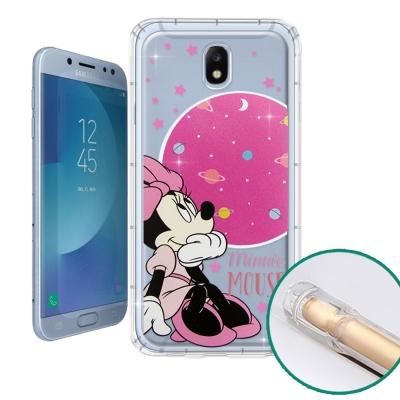 迪士尼授權正版 Samsung Galaxy J7 Pro 空壓安全手機殼(米妮...