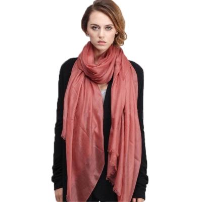 精織300支紗100%純色羊絨大披肩(印度紅一件)