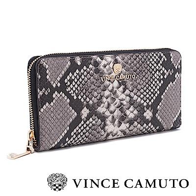Vince Camuto 真皮質感動物紋拉鍊式長夾-蛇紋