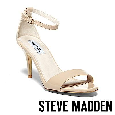STEVE MADDEN-SILLLY 一字繞踝高跟涼鞋-米色