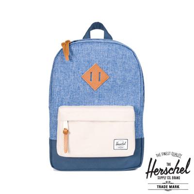 Herschel Heritage Kids 兒童後背包-藍色拼接